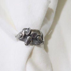 Vintage Sterling 925 Silver ELEPHANT Ring